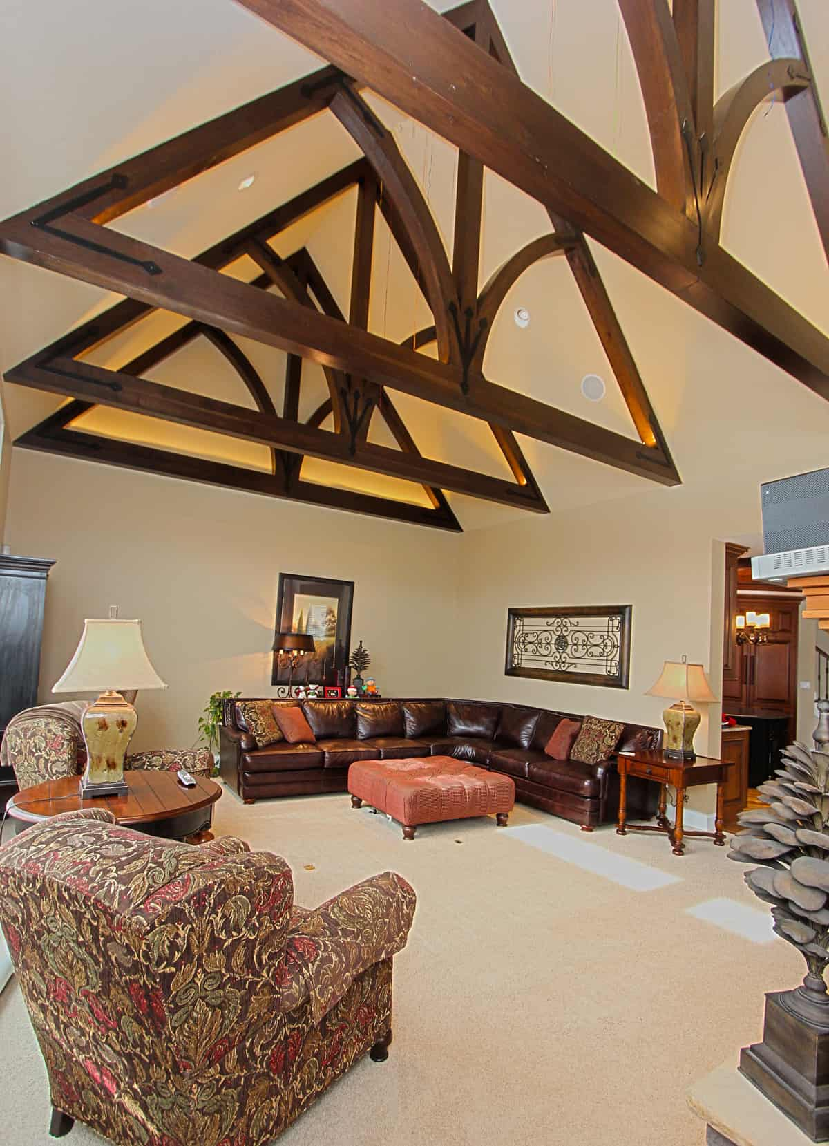 Tyson Estate Great Room and Timber Frame Rafter