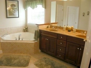 Whitaker Model 913 Master Bathroom with bathtub and sinks Image