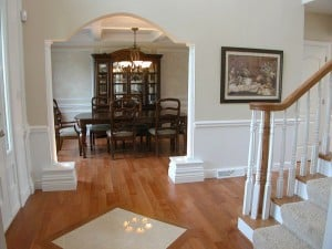 Lexi Model Foyer and view of dinning room image- Signature Series